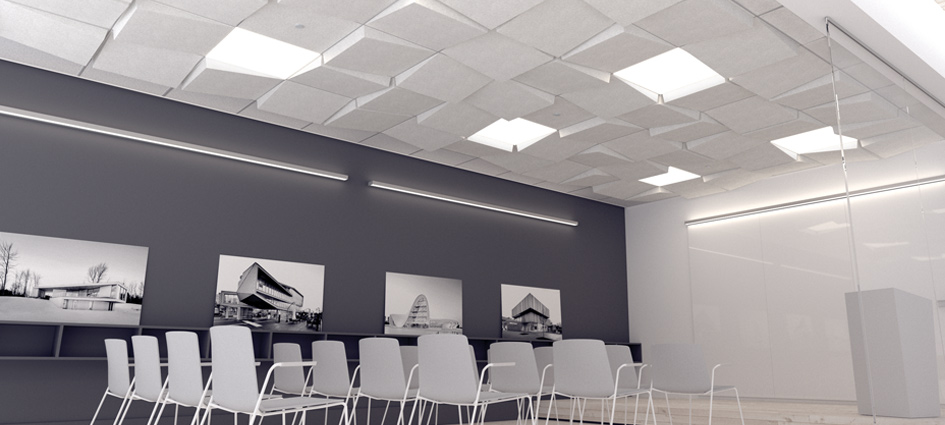 Conference room with Tetria tiles