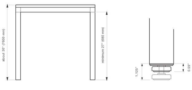 Technical Details Stand Architectural Hardware 3form