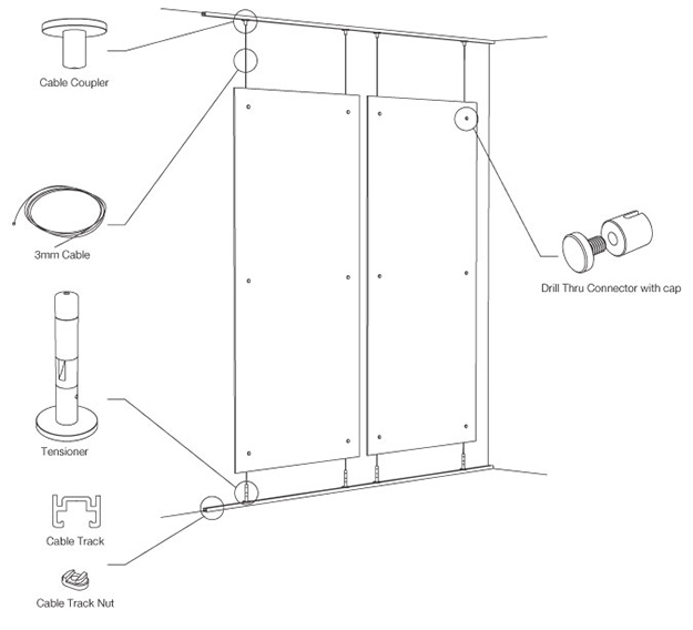 Technical Details Suspend Architectural Hardware 3form