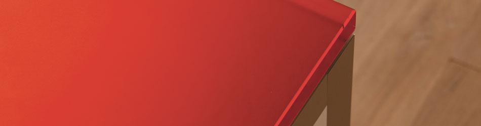 3 Form Acrylic Panels : Chroma recycled acrylic horizontal surfaces form