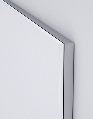 Glass markerboard continuous frame